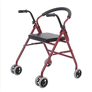 WZHWALKER Gehhilfe Für Ältere Menschen, Gehhilfe Aus Aluminiumlegierung, Klappbar Mit 2 Rollen, Zusätzliche Gehhilfe, Mehrfarbig Optional