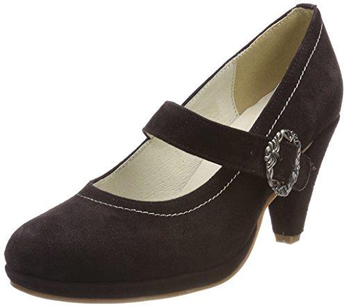 HIRSCHKOGEL 3002724, Zapatos de Tacón con Punta Cerrada para Mujer, Negro (Schwarz 002 002), 35 EU