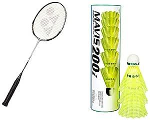Yonex Carbonex 6000 Badminton Combo (Racquet + Mavis 200i)