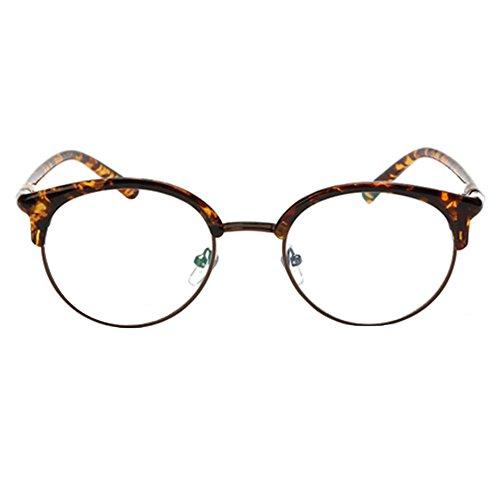 Meijunter Unisex Retro halb-Rahmenart klassische optische Gläser / Art und Weiseglasrahmen