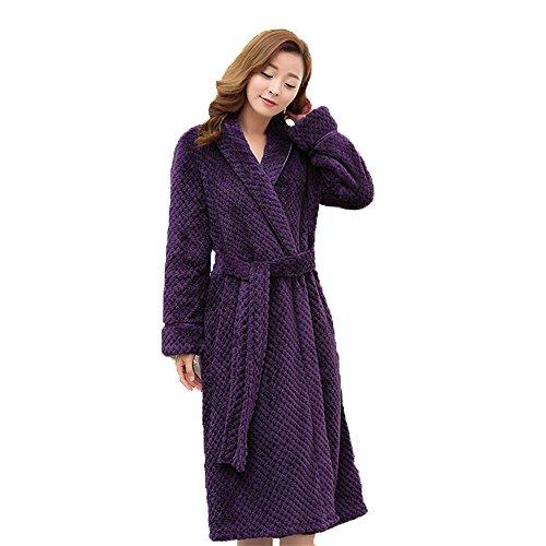 CHUNHUA Femmes et hommes femmes couples taille épaissie velours corail flanelle longue robe robe robe vêtements , e , l/xl f