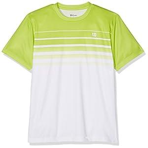WILSON B SP Striped Crew Tennisshirt, Kinder, Kinder, B SP Striped Crew
