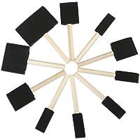 ROSENICE Outil à éponge de peinture à lame à mousse avec poignées en bois dur Ensemble de 10