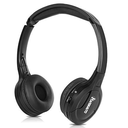 NAVISKAUTO IR Kopfhörer Faltbarer Bügelkopfhörer Stereo Audio System 1,4m Kabel 3,5mm Klinkestecker für Tragbarer DVD Player PC Tablet Y0101S - Für Tragbare Kopfhörer Dvd-player