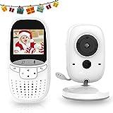 MARKBOARD Wireless Baby Monitor,Babyphone mit Kamera,Video Babyphone, mit Gegensprechfunktion Digital mit Temperatursensor Schlaflieder VOX Funktion für Baby Überwachung ... (schwarz-weiß)