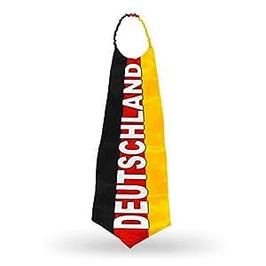 """2 x Mega Krawatte """"Deutschland"""" Fußball Fanartikel WM EM 95 x 39 cm"""