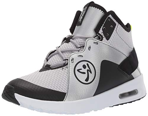 Zumba Air Classic Sportliche High Top Tanzschuhe Damen Fitness Workout Sneakers, Black/Silver, 40 EU