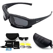 Gafas de sol polarizadas deportivas Maso X7, gafas de sol militares tácticas con 4 lentes
