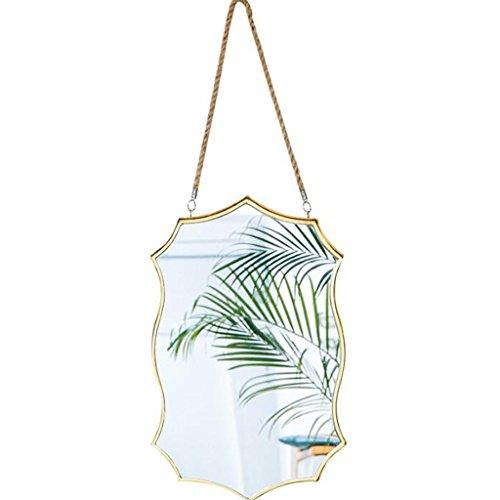 Bloomy home- specchio da parete in ottone per specchio da trucco da bagno. specchio decorativo stile vintage specchi ingranditori
