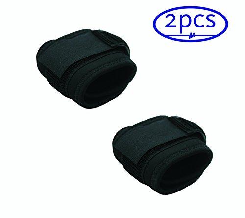 ObboMed MB-1182 *2 Stück/1 Set* einstellbares Neopren-Kompressionsband für das Handgelenk, Handgelenkstütze zum Schutz bei Verletzungen, bei Gelenkschmerzen oder beim Sport, elastisch und atmungsaktiv
