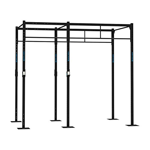 CAPITAL SPORTS Dominate R 293.179 Basis Power Rack Cross-Training-Cage Gym 293 x 270 x 179 cm (2 x J-Cups bis zu 250 kg belastbar 6 x Pull-up Station 2 x Squat Station) Stahl schwarz