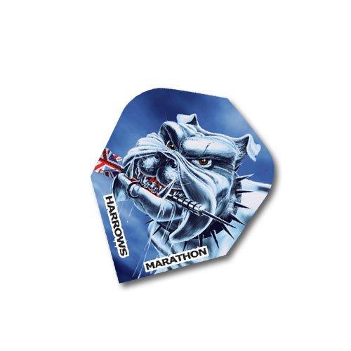 F7080 Marathon Britische Bullbeisser Dartflights - 4 sets. (12 Flights)