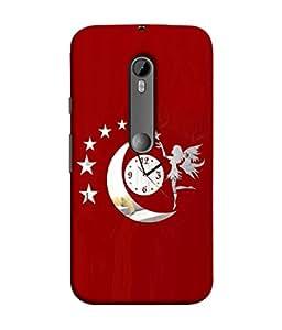 PrintVisa Designer Back Case Cover for Motorola Moto G3 :: Motorola Moto G (3rd Gen) :: Motorola Moto G3 Dual SIM (Red White Women Young Modern Art Illustration Decoration Card Portrait)