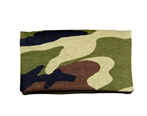 Plan B GELDBÖRSE Compact Militär (15,5 x 8,5 cm) mit Multifunktionale Geldbörse, Portemonnaie, Steckplätze für 5 Kreditkarten Werden Grün -