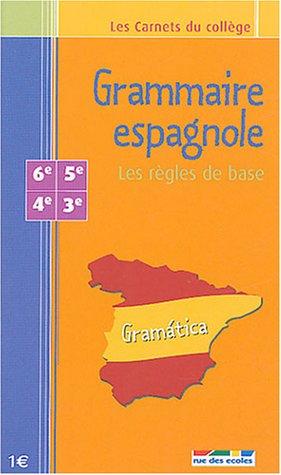Grammaire espagnole : Les règles de base 6e - 5e - 4e - 3e