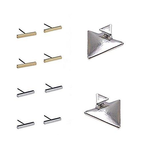 Mode Ohrring Bolzen für Frauen Dreieck Ohrring und Quadratische Ohrringe - 1 Set (Dreieck und T-förmig) (Mode-ohrring-bolzen-sets)
