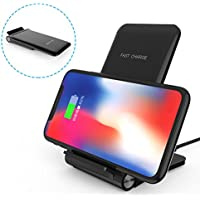 Cargador Inalámbrico Rápido, JIM'S STORE 2 Bobinas Qi Wireless Quick Charger Carga Rápida 10W y Estándar 5W para iPhone X, iPhone 8 Plus, iPhone 8, Inalámbrica Rápida Cargador para Samsung Galaxy S9 Plus, S9, S8 Plus, S8, y Teléfonos Qi-enabled