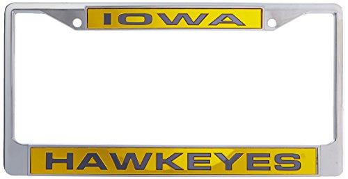 NCAA Laser Chrom Teller Rahmen, Iowa Hawkeyes