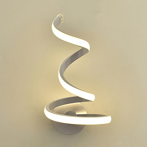 Modeen lampada da parete a spirale a led semplice e moderna creatività lampada da comodino camera da letto lampada da parete lampada da parete in metallo