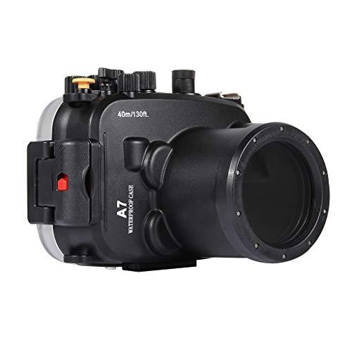 HSKB Camera Wasserdicht Hülle, Schutzhülle Gehäuse Wasserfeste Protective Cove Shell Tauchen 40M Unterwasser Kamera Tasche Waterproof Case für Sony A7 A7S A7R (Kamera A7r Tasche Sony)
