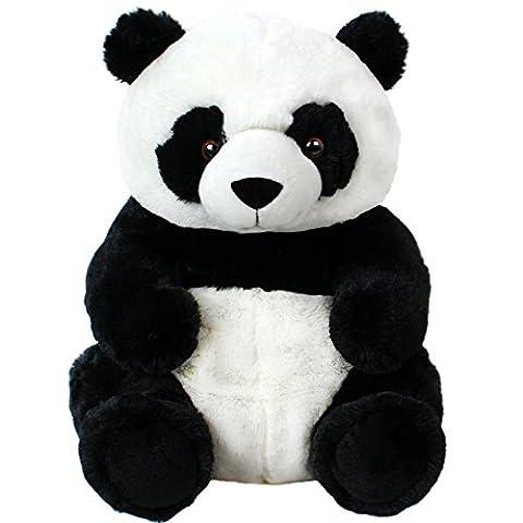 Plüschtier sitzender Panda Kuscheltier Pandabär Plüschpanda groß Kuschelbär 45 cm