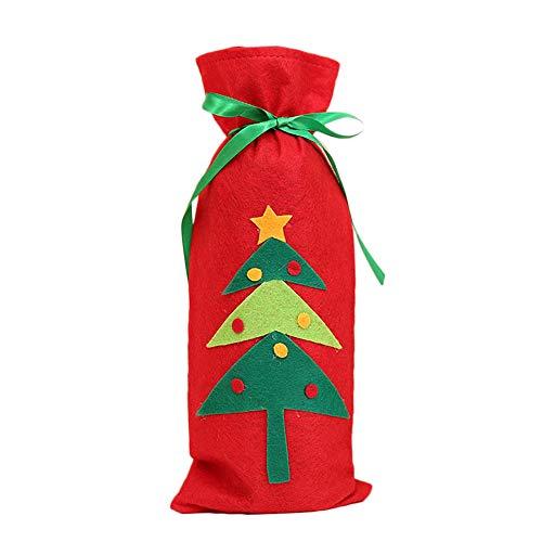 LILICAT Couverture de Bouteille de vin Rouge Sacs Décoration Maison Fête Père Noël Noël Décoration intérieure Noël