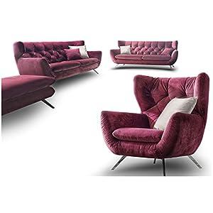 Designer Chesterfield Couch Garnitur 3 2 1 Sofa Set Candy Sixty