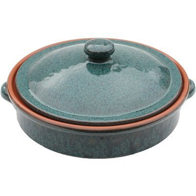 amazing-cookware-25-cm-terracotta-round-dish-with-lid-peacock-green