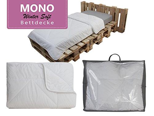 Mono-Steppdecke 1-lagig gefüllt - geprüft nach Öko-Tex Standard 100 - Ganzjahresbettdecke für ein durchschnittliches Wärmebedürfnis - erhältlich in 3 verschiedenen Größen, 135 x 200 cm