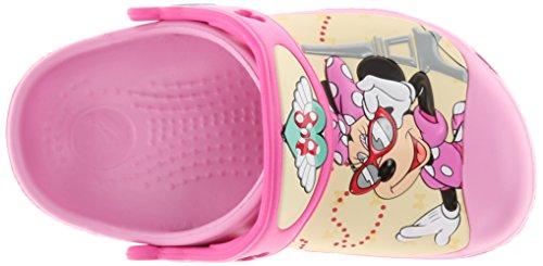 Crocs Cc Minnie Jet Set Clog, Sabots fille Rose (Carnation)