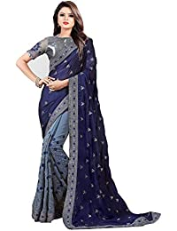 0a2ee12fb5 Latest Saree Fashion Women's Green Georgette Heavy Party Wear sarees for  women latest Offer design 2018