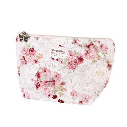 Logo Drawstring Taschen (TPulling Portable Beauty Drawstring Reise Make-up Tasche Organizer Lagerung Wasserdichte Schmuck Kosmetiktasche mit Kordelzug Aufbewahrungstasche (Weiß))