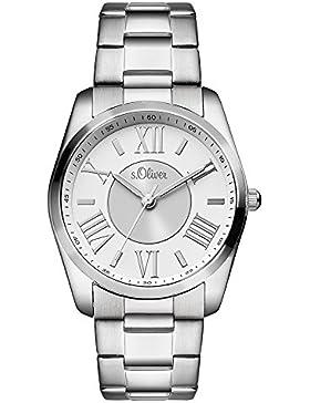 s.Oliver Damen-Armbanduhr Analog Quarz Edelstahl SO-3085-MQ