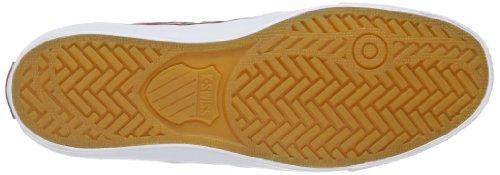 K-Swiss ADCOURT LA MID SDE VNZ 03129-622-M Herren Sneaker Rot (Merlot/Charcoal/White)