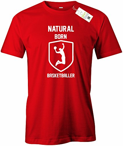NATURAL BORN BASKETBALLER - HERREN - T-SHIRT Rot