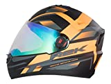 #10: Steelbird R2k Night Vision Full Face Helmet (Matt Black and Orange, L)