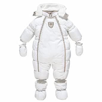 chicco pilote combinaison de neige b b gar on blanc 1 mois v tements et. Black Bedroom Furniture Sets. Home Design Ideas