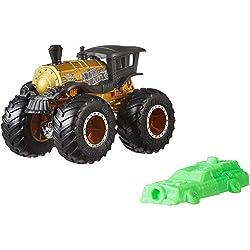 Hot Wheels GJY19 - Monster Trucks 1:64 Die-Cast Spielzeugauto Loco Punk, Spielzeug ab 3 Jahren