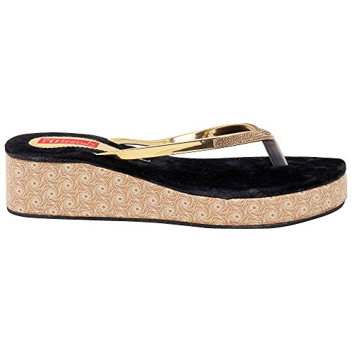 Footrendz-Womenss-Attractive-Faux-Leather-Wedges