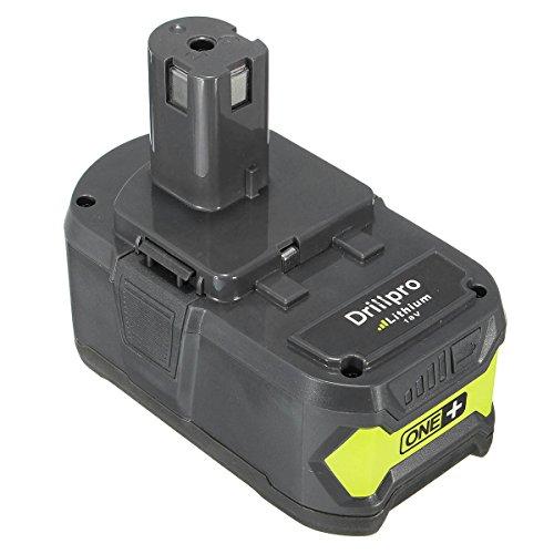 Drillpro Hochleistung Ersatzakku Li-Ion Akku 18 V/4.0 Ah P108 ONE+,Lithium-Batterie für Ryobi P108 One P122 P108 P104 P105 P102 P103 P107