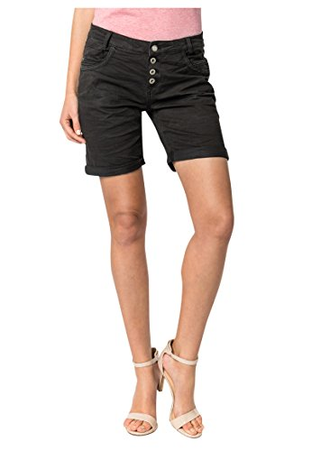 Urban Surface Damen Bermuda Shorts | Bequeme kurze Stoffhose aus Stretch-Twill - Loose Fit dark-grey XL