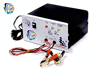 Soni Enterprise PJP 12v 7 AMP Battery Charger with 7AH to 220AH Charging Capacity for AMF Panel, Tubular, Inverter, Bike, Truck, Ups, Car and 12Volt Chargers