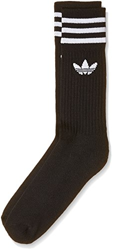 adidas SOLID Crew Sock Black/White, 27-30