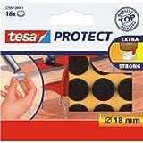 tesa 20 x Filzgleiter Protect Durchmesser 18mm rund braun