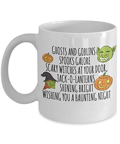 Jack o Lanterns Haunting Night Halloween Party Souvenir Giveaways Ideas Candy Holder Coffee Mug Souvenir Giveaways Tea Cup 18/12 J