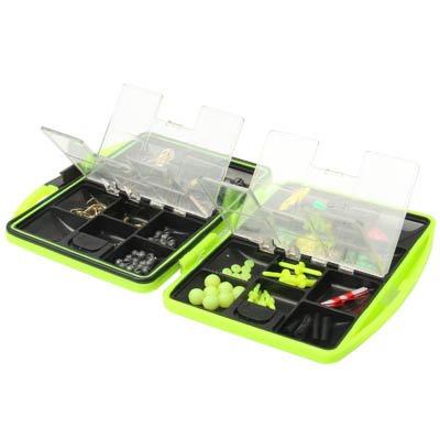 Angelzubehör-Box, -Set, befüllt mit Haken und weiterem Zubehör
