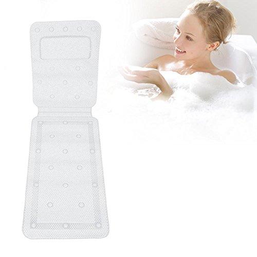 Kissen Weiche Matratze (Rutschfeste Badewannenmatte, Massagebad und Duschmatte, Antibakterielle PVC-Ganzkörper Badekurort Matratze Kissen Kissen Weiche Gesteppte Badewannen Matte mit Breathable)
