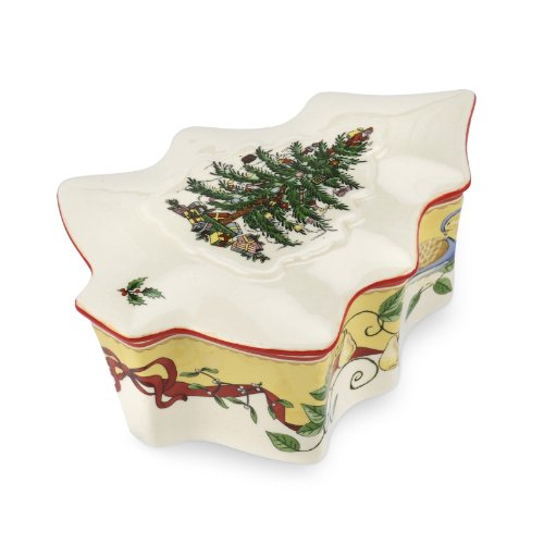 Spode Christmas Tree 2012Annual Edition Tree Form verdeckt Box Spode China Christmas Tree Ornaments