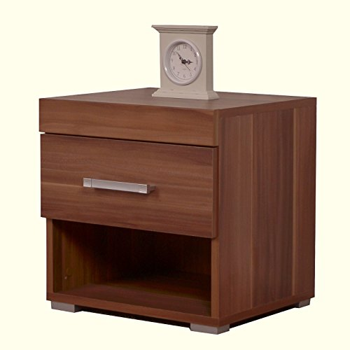 1 drawer bedside cabinet walnut effect bedroom furniture brown search furniture Walnut effect living room furniture
