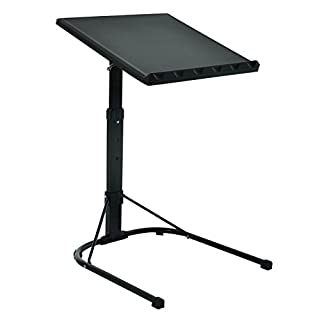 Azuma Folding Black Laptop Table Adjustable Height Portable Gaming Computer Desk Stand Tray